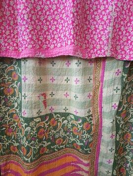 Kantha Sari Throw Blanket #471