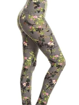 CURVY Spring Blossom Yoga Legging