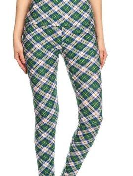 Green Plaid Yoga Legging