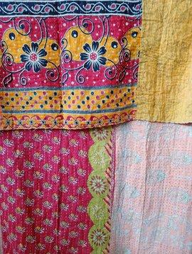 Kantha Sari Throw Blanket #475