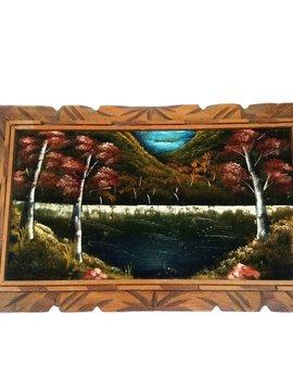 Vintage Velvet Lake Painting