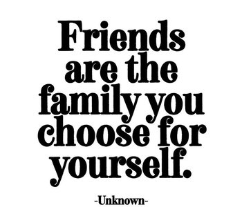 Friends are the Family You Choose For Yourself Inspirational Card