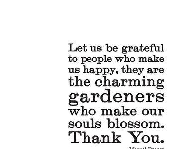 Let Us be Grateful Inspirational Card