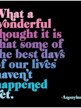 What a Wonderful Thought Inspirational Card