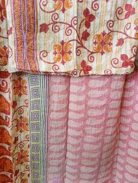Kantha Sari Throw Blanket #496