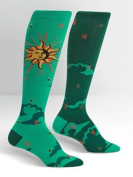 Sun & Moon Knee High Socks
