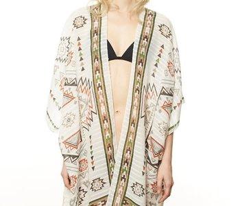 Aztec Tassel Kimono