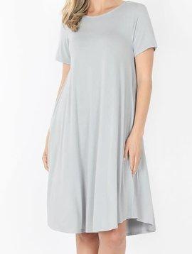 CURVY Gray Mist Swing Dress