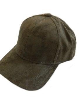 CC Olive Suede Ball Cap
