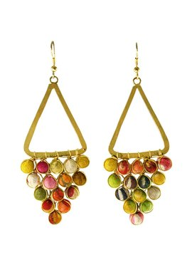 Kantha Reflective Chandelier Earrings
