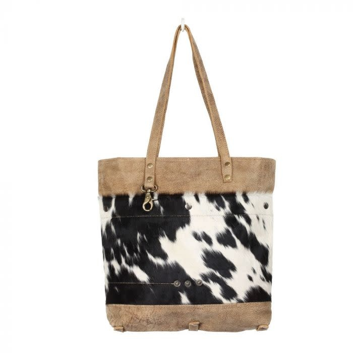 Cocoa Leather & Cowhide Bag