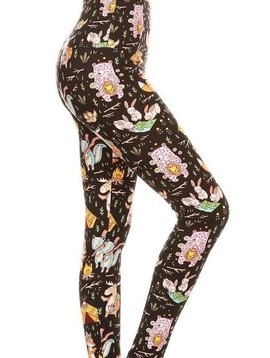 CURVY Strange Wilderness Yoga Legging