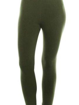 Solid Olive Yoga Band Legging