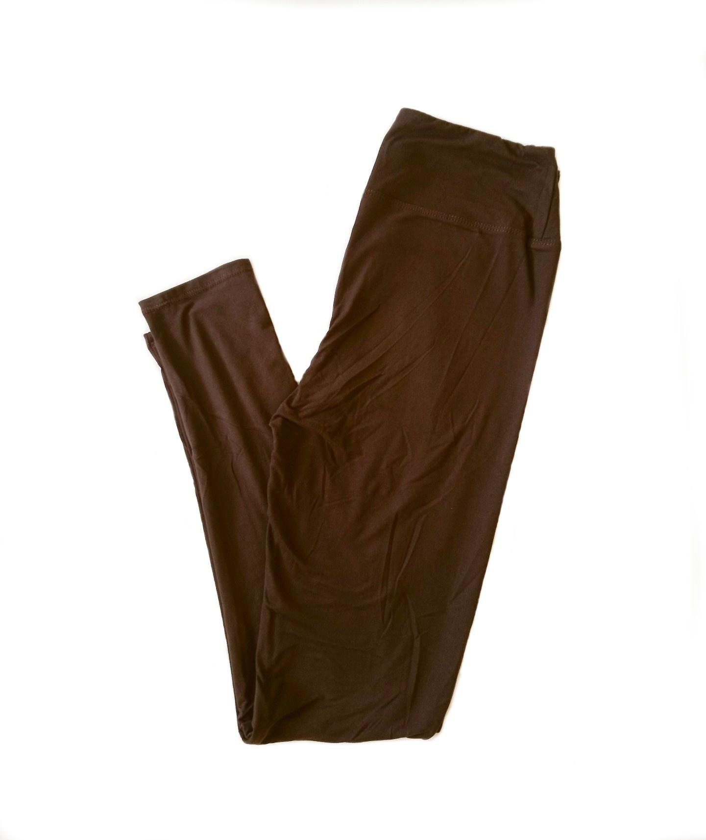Solid Brown Yoga Band Legging