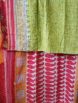 Kantha Sari Throw Blanket #531