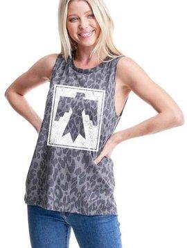 Leopard Thunderbird Sleeveless Top