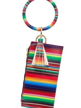 Serape Key Ring Bracelet Wallet