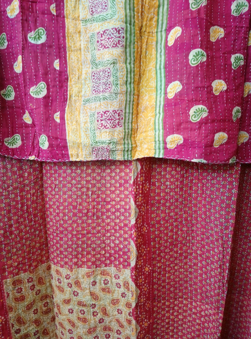 Kantha Sari Throw Blanket #612