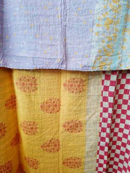 Kantha Sari Throw Blanket #610