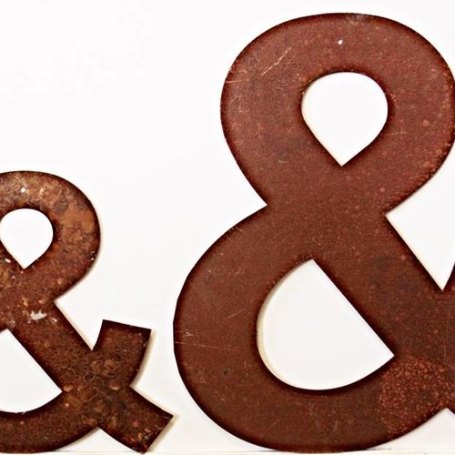 Rusted Metal Ampersand Symbol 18""