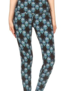 Peacock Print Yoga Legging