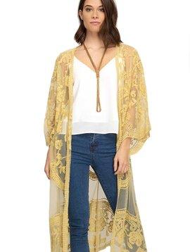Daffodil Lace Kimono Cardigan
