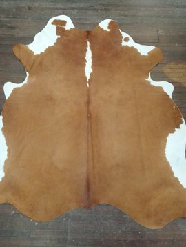 Red & White Cowhide Rug 0027