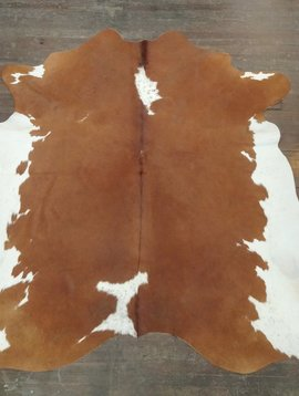 Red & White Cowhide Rug 0034