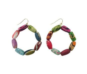 Kantha Kai Hoop Earrings