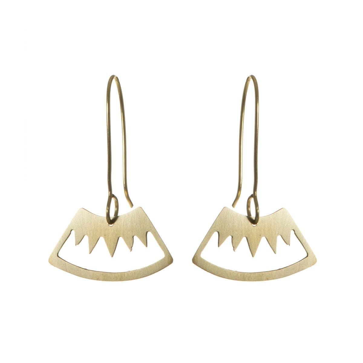 Brass Mountain Earrings