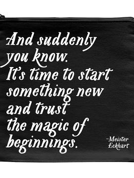 Magic of New Beginnings Zipper Pouch