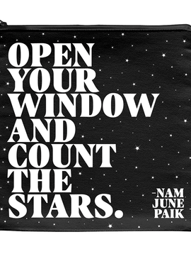 Open Your Window & Count the Stars Zipper Pouch
