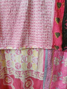 Kantha Sari Throw Blanket #570