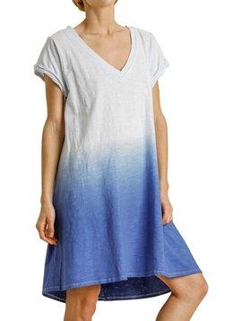 Ice Blue Dip Dye Dress