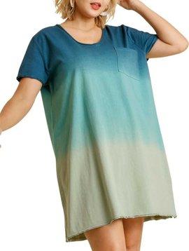 CURVY Ombre Peacock Dress