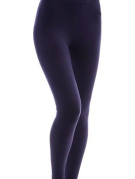 CURVY Solid Navy Yoga Legging