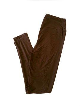 CURVY Solid Brown Yoga Legging