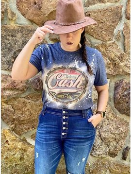 Johnny Cash Bleached Graphic T