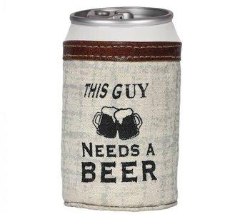 This Guy Needs a Beer Koozie