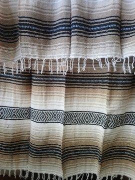 Brown + White Falsa Blanket