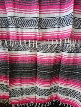 Dark Pink + Gray Falsa Blanket