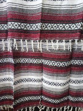 Maroon + Gray Falsa Blanket