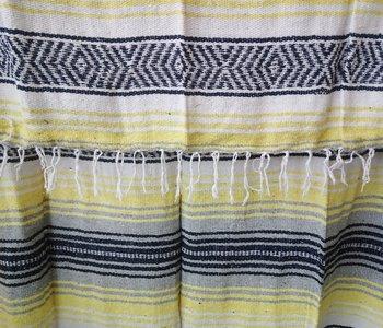 Yellow + Gray Falsa Blanket