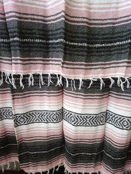 Light Pink + Gray Falsa Blanket