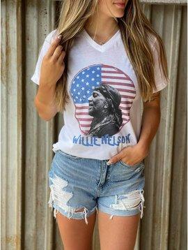 Willie Nelson American Flag T-Shirt