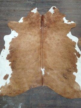 Brown & White Cowhide Rug 0042