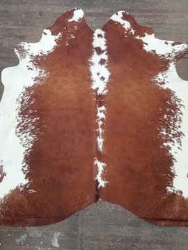 Red & White Cowhide Rug 0048