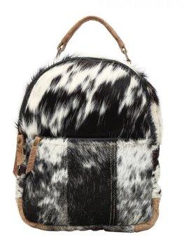 Compact Cowhide Backpack Bag