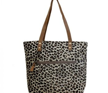 Magnetic Leather Leopard Print Bag
