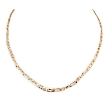 Gold Flat Edge Chain Necklace